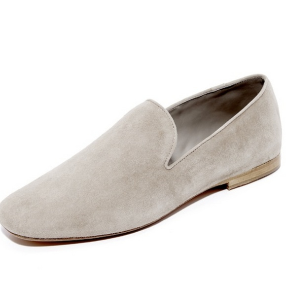 d9f96185768 Vince Bray Gray Suede Flats Smoking Loafers 7.5. M 5ba109d50cb5aa26da5812fe